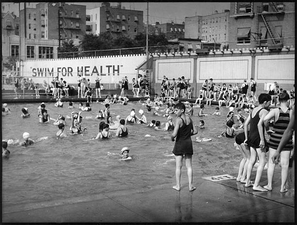 Cascades Pool, 169th Street & Jerome Avenue, Bathers In Pool Wall Art