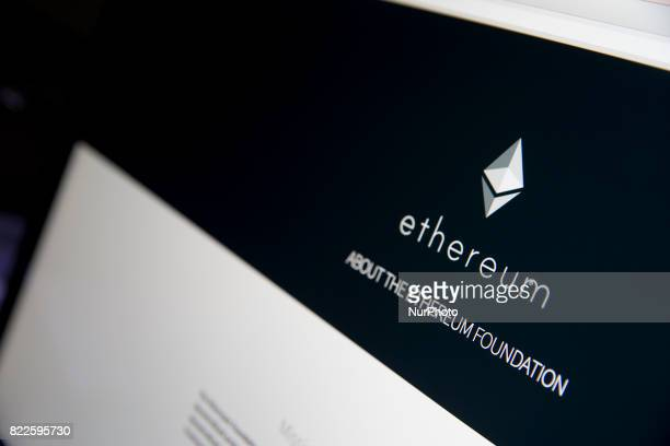 A view of a cryptocurrency Ethereum website Ethereum is an opensource public blockchainbased distributed computing platform featuring smart contract...