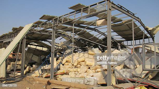 A view of a damaged storage after the explosion in ammunition store at Obeidi district in Baghdad Iraq on September 02 2016