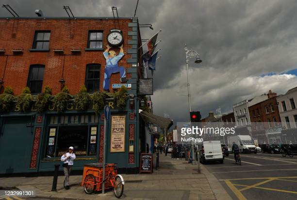 View of a dark sky in Dublin city center. On Tuesday, 18 May 2021, in Dublin, Ireland.