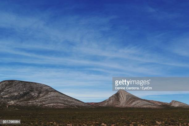 View Of A Desert Against Blue Sky