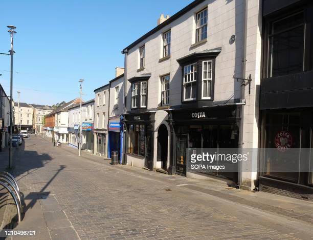 View of a deserted Caroline street during the coronavirus crisis. The UK government-imposed nationwide lockdown as a preventive measure against the...