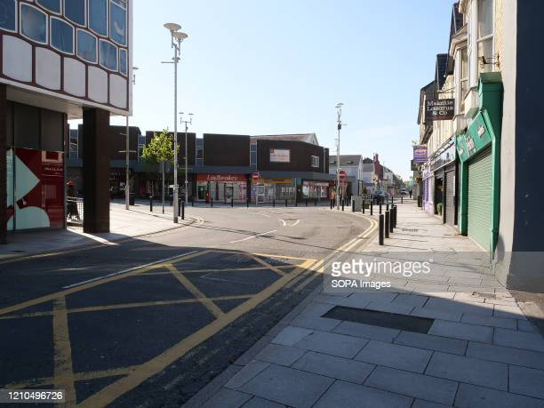 View of a deserted Nolton street during the coronavirus crisis. The UK government-imposed nationwide lockdown as a preventive measure against the...