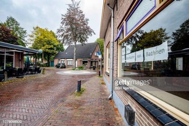 View of a deserted street on October 7, 2020 in Bathmen, Netherlands. In the village of Bathmen in the east of the Netherlands there is a great...