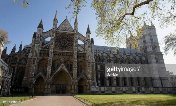View of a deserted Westminster Abbey on April 15, 2020 in London. The Coronavirus pandemic has spread to many countries across the world, claiming...