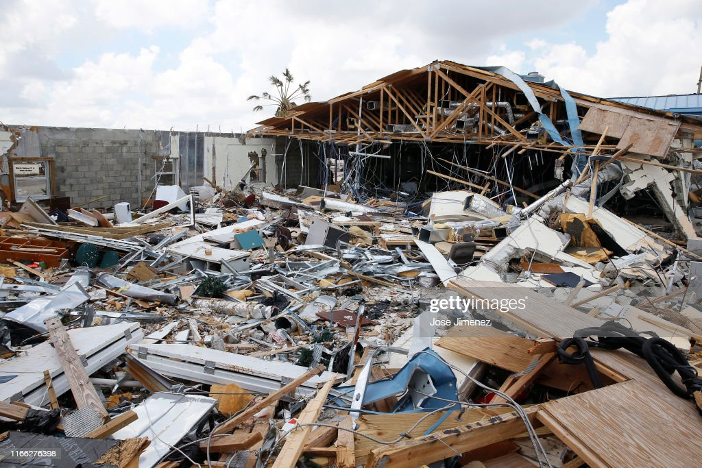 Hurricane Dorian Slams Into The Bahamas As Category 5 Storm : News Photo