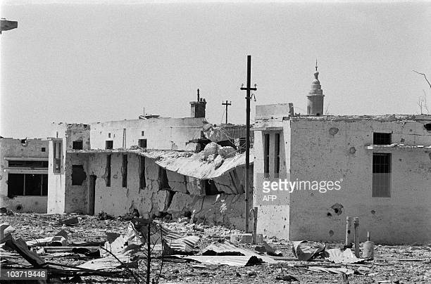 View of a destroyed house on October 29 1970 in the Jordan valley after fightings between jordanian army and Palestinians In September 1970 King...