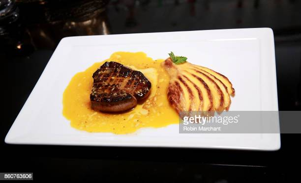 A view of a dish prepared Food Network Cooking Channel New York City Wine Food Festival Presented By CocaCola Dinner with JeanGeorges Vongerichten...