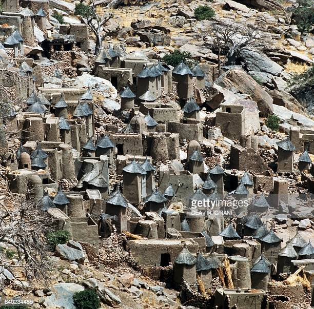 View of a Dogon village Bandiagara Escarpment Mali