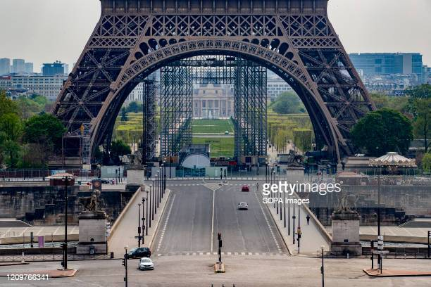 View of a Eiffel Tower amid coronavirus lockdown in Paris France has confirmed 129654 coronavirus cases832 deaths and 26391 recovered cases