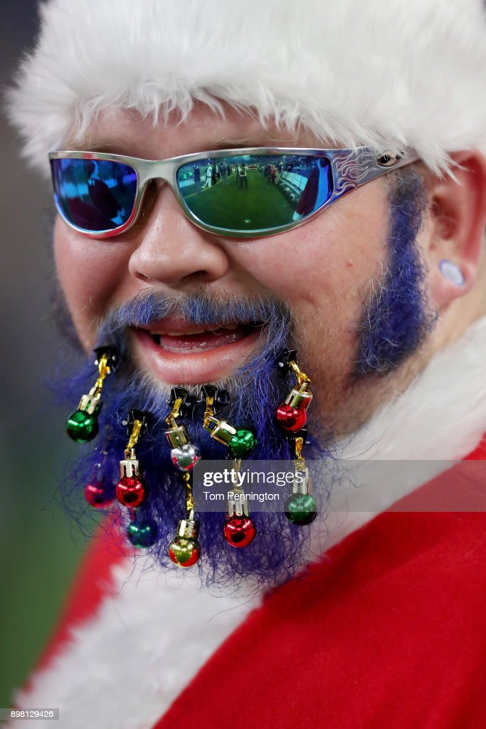 A view of a fan as the Dallas Cowboys take on the Seattle Seahawks at AT&T Stadium on December 24, 2017 in Arlington, Texas.