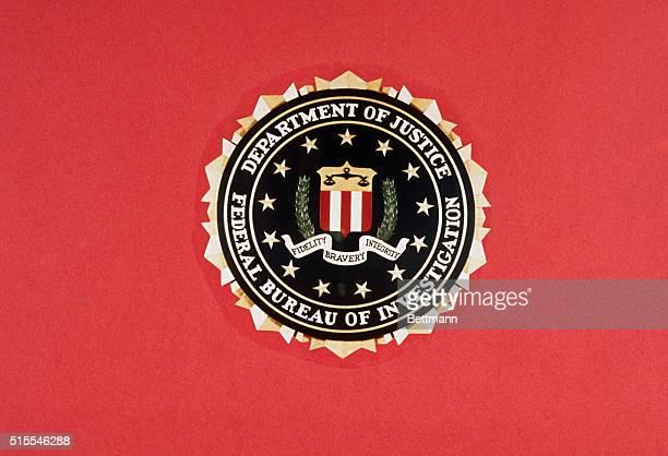 View of a FBI emblem