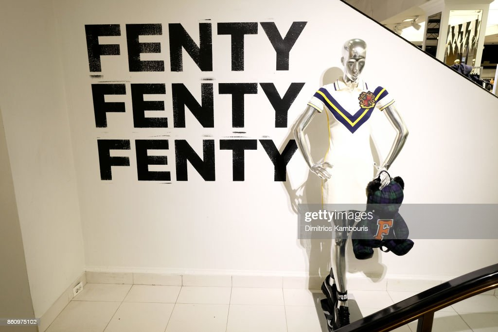 Rihanna Hosts Pep Rally To Celebrate Launch Of The AW17 FENTY PUMA By Rihanna Collection At Bloomingdales On 59th Street : News Photo