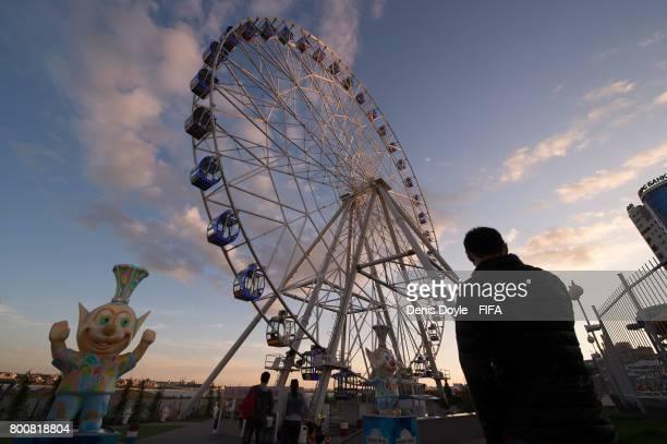 View of a ferris wheel in on June 25, 2017 in Kazan, Russia.
