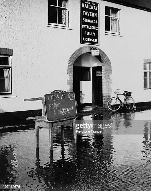 View Of A Flooded Street At Kings Lynn In United Kingdom On February 1St 1953