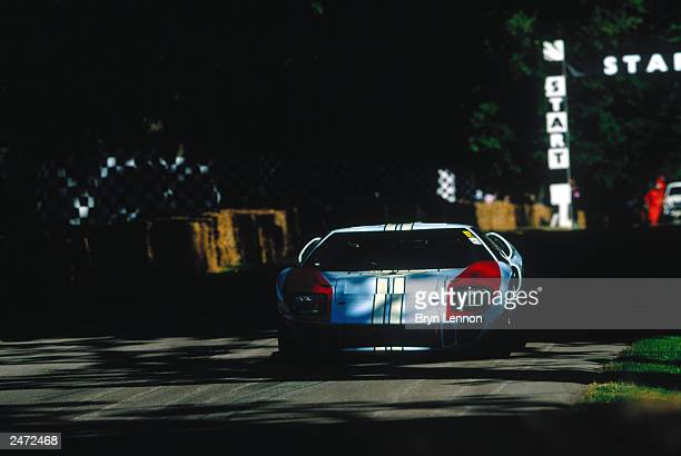 A view of a Ford GT from the 1966 Le Mans during the Goodwood Festival of Speed on July 13 2003 at Goodwood House in Chichester England