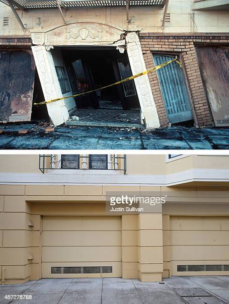 View of a garage at an apartment building on Beach Street that was built after the 1989 Loma Prieta earthquake on October 15, 2014 in San Francisco,...