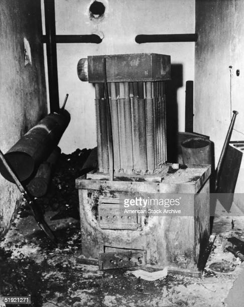 View of a gas generator used to fill the execution chambers at NatzweilerStruthof concentration camp in the Vorges Mountains near Natzviller France...