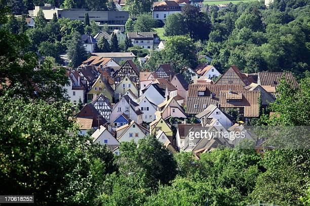view of a german medieval town - north rhine westphalia stock pictures, royalty-free photos & images