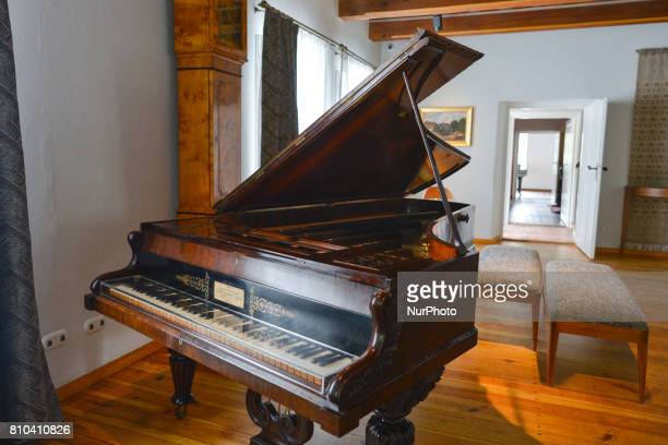 A view of a grand piano seen in Chopin's birthplace museum devoted to the composer located in a small village of Zelazowa Wola 46km west of Warsaw On...