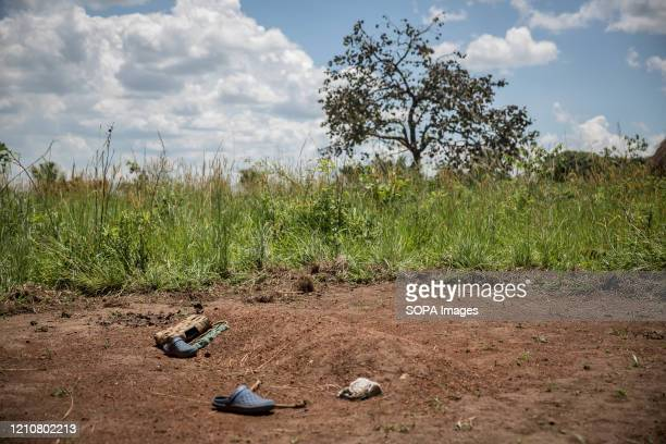 View of a grave of Stewart Rubamga-Kwo, a 12-year-old who died after he was unable to reach the hospital because of the transport ban during the...