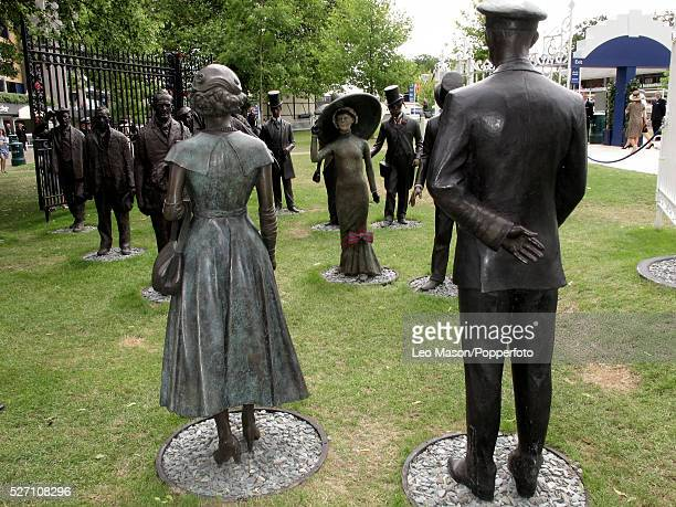 View of a group of bronze statues on display during the 2010 Royal Ascot race meeting at Ascot Racecourse Ascot England on 19th June 2010
