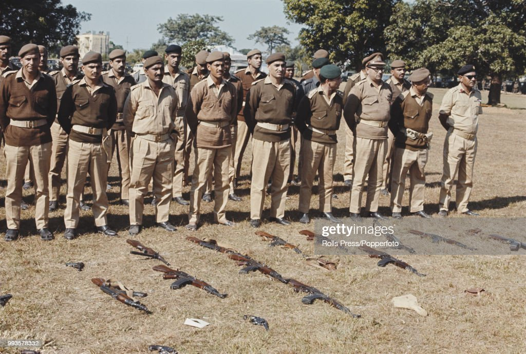 View of a group of Pakistan Army officers standing after