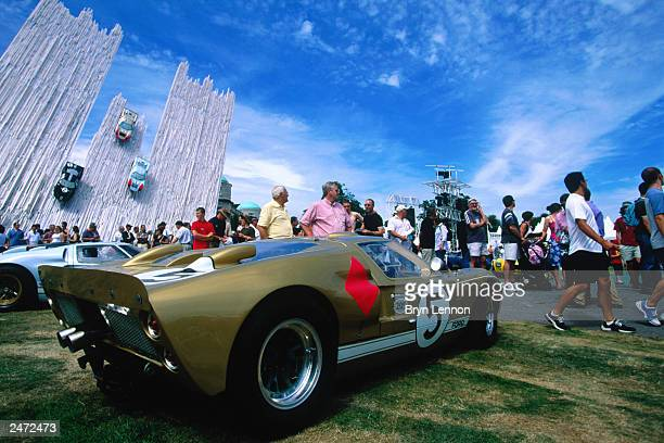 A view of a GT from the 1966 Le Mans during the Goodwood Festival of Speed on July 13 2003 at Goodwood House in Chichester England
