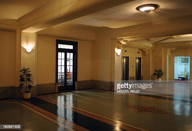 View of a hall inside the Palacio Salvo in Montevideo, Uruguay, on May 29, 2008. The Palacio Salvo, built in 1928 and designed by Italian architect...