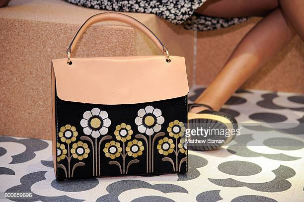 A view of a handbag at the Orla Kiely presentation during New York Fashion Week September 2016 on September 8 2016 in New York City