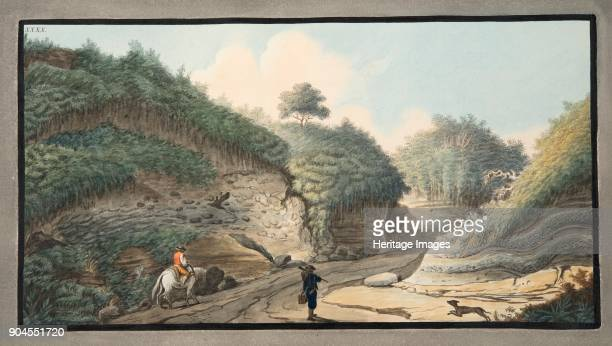 View of a hollow road leading from the Grotto of Pausilipo to Pianura Plate XXXX from 'Campi Phlegraei Observations on the Volcanoes of the Two...