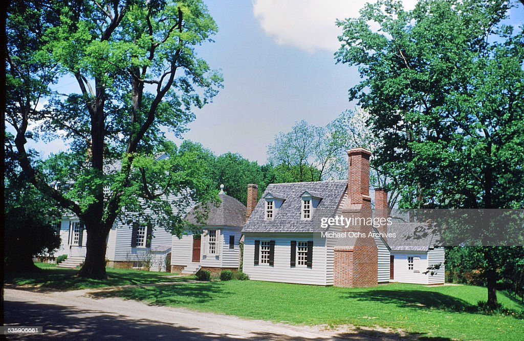 A view of a home in Colonial Williamsburg, Virginia. A living history of life in circa 1700's.