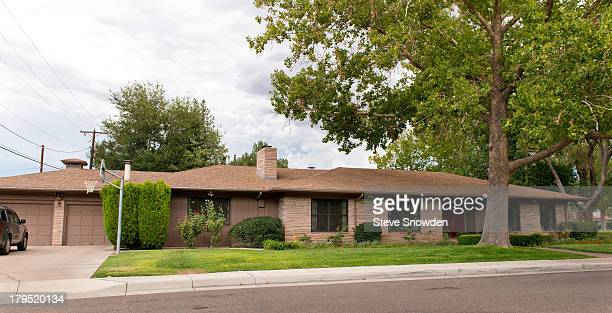 A view of a home used in television series 'Breaking Bad' on September 01 2013 in Albuquerque New Mexico Marie Schrader took advantage of the...