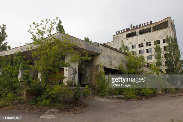 A view of a hotel at the Chernobyl exclusion zone in the abandoned city of Pripyat The HBO television miniseries Chernobyl premiered in US and...