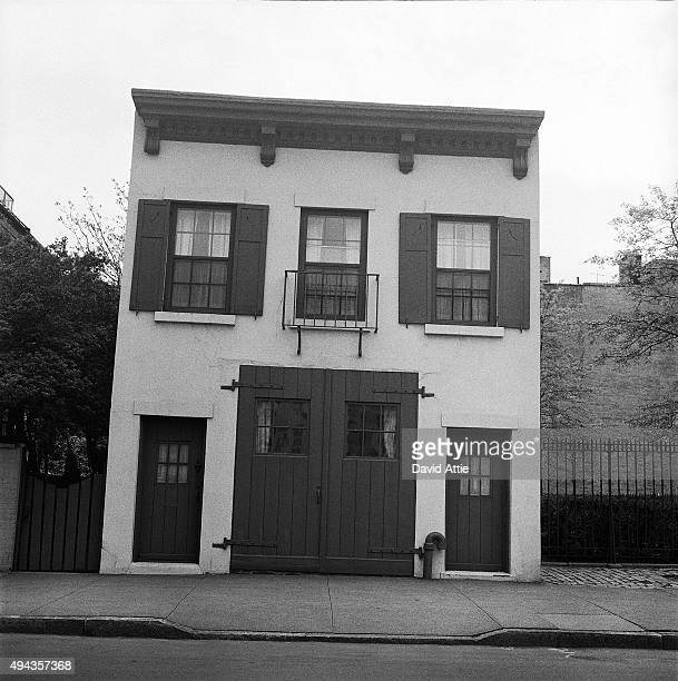 A view of a house in Brooklyn Heights in March 1958 in New York City New York