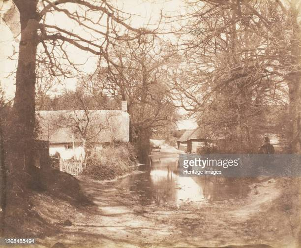 [View of a House in the Woods, with a Waterlogged Road], 1853-56. Artist John Dillwyn Llewelyn.