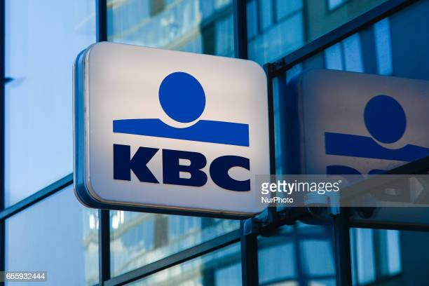 A view of a KBC Bank Ireland logo in Grand Canal Dock area in Dublin On Monday March 20 in Dublin Ireland