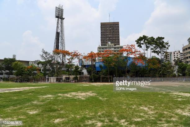 View of a Landscape of Bangabandhu outer stadium at Motijhell in Dhaka.
