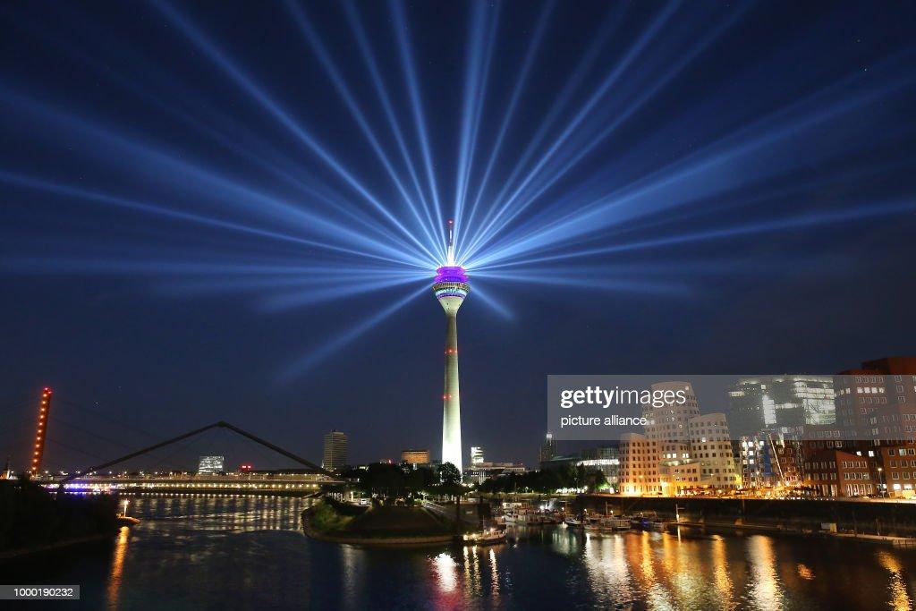 Light installation for the Tour de France : News Photo