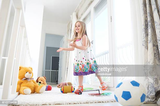 View of a little girl playing