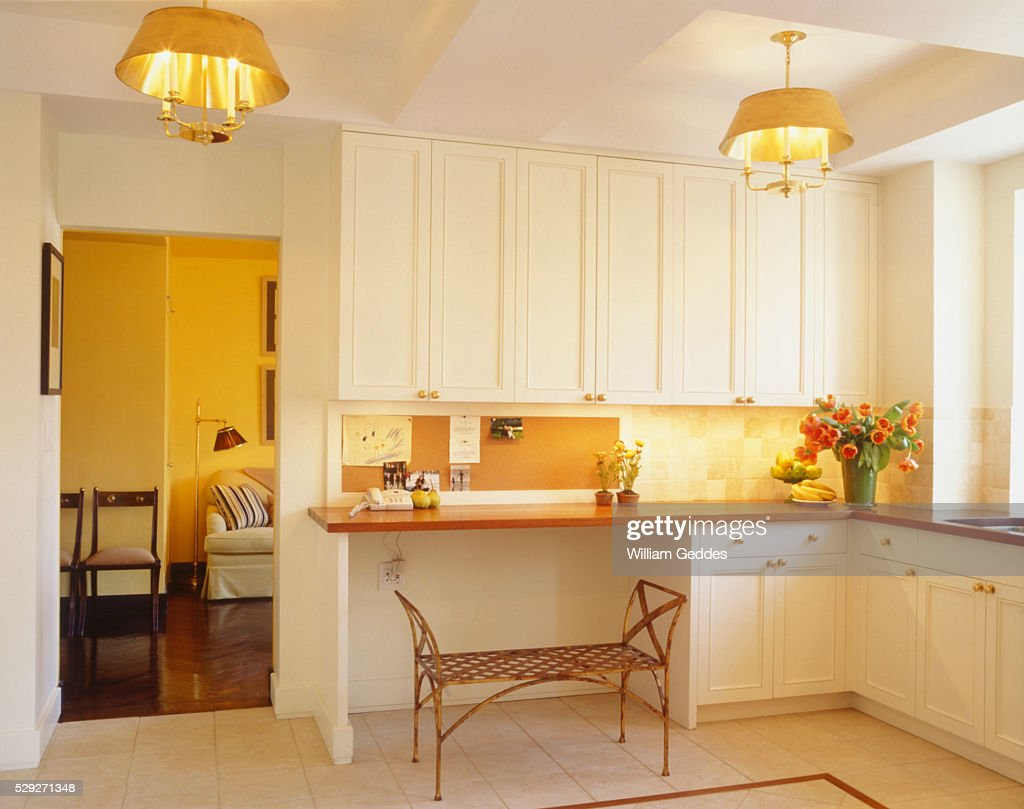 View of a lovely residential kitchen : Stock Photo