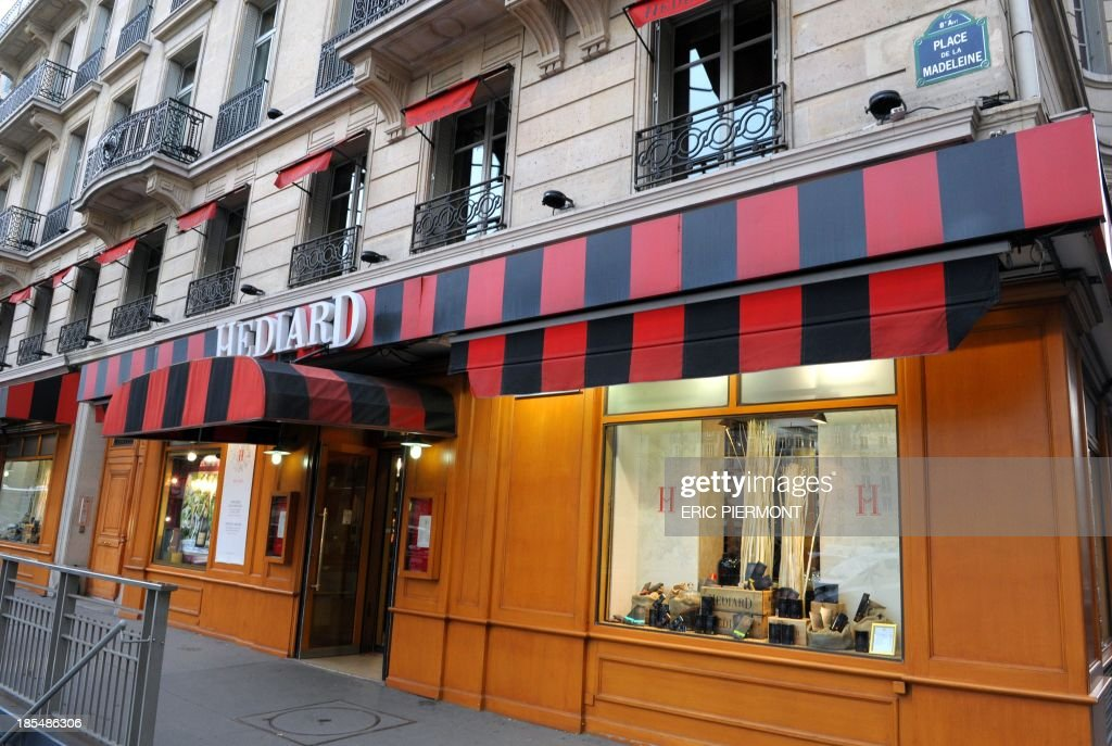View of a luxury French grocery store Hediard taken in Paris