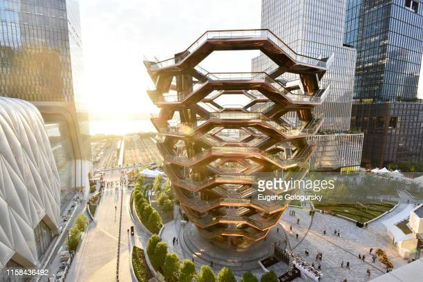 A view of A Magical Summer Night At Hudson Yards Celebrating The Lifestyle Of 35 Hudson Yards on June 25 2019 in New York City