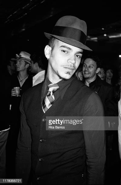 View of a man in a waistcoat and hat at Carbon nightclub, New York, New York, April 30, 1997.