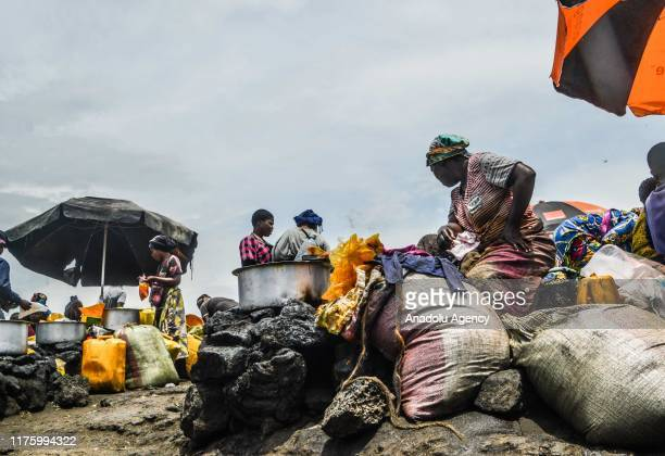 View of a market area in Goma, Democratic Republic of Congo on October 10, 2019. While more than 820 million people worldwide struggle with hunger,...