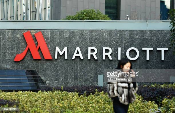 View of a Marriott Hotel in Hangzhou in east China's Zhejiang province Thursday Jan. 11, 2018. The online fury went up in China after Marriott...