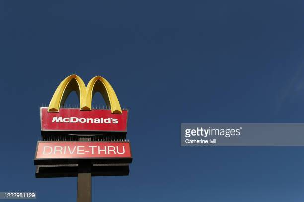 View of a McDonald's restaurant sign on April 24, 2020 in Milton Keynes, United Kingdom . The British government has extended the lockdown...