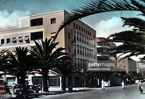 View of a modern building in a street of Asmara. Asmara, 1970s