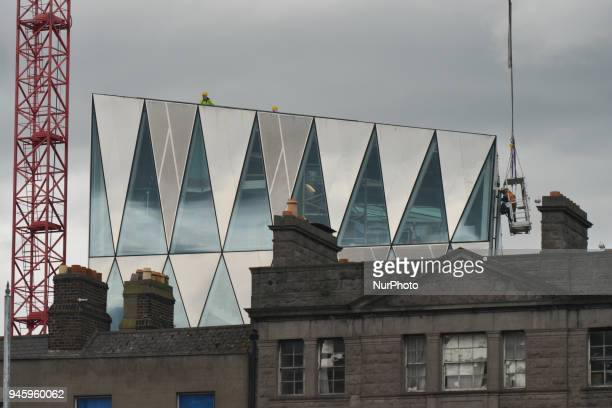 A view of a modern building under construction in Dublin's CIty Center On Friday April 13 in Dublin Ireland