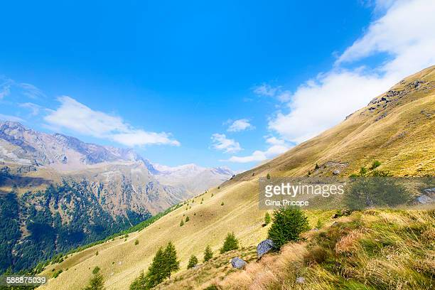 View of a mountain pass, Lombardy, Italy